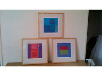 3 X IKEA PICTURES IN PINE FRAMES – W47.5 X H47.5 X D3.5CM - £10