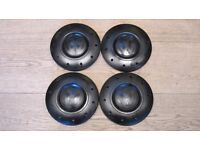 Steel Wheel Center Hub Black Caps 4pcs VW Transporter T5 2003-2013