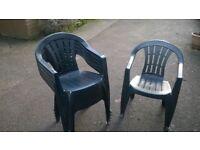 x6 Green Garden Chairs (Plastic)