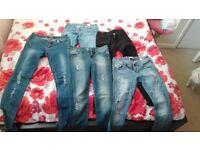 5 x pairs of ladies jeans