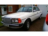 Mercedes W123 230E petrol injection 1985 AUTOMATIC with PRIVATE PLATE INCLUDED.