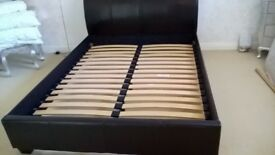 King Size Faux Leather Bed
