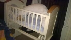 swinging crib and mattress (if wanted)