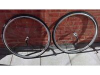 Pair of Specialized Rival Fusee E5 wheels + armadillo tyres and tubes excellent condition