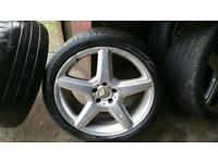 Mercedes AMG 19 inch wheels with tyres