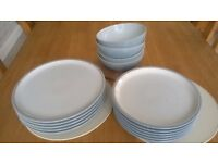 Denby Every Day Cool Blue 15 piece Dinner set used