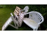 Free plastic garden furniture