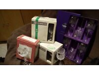 28 Various Wine and Champagne Glasses, some crystal, available as a bulk buy.