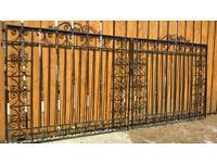 Wrought Iron Gates - One Pair, Allen Heavy Duty