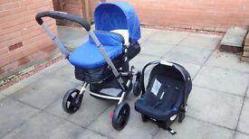 Royal blue mothercare expedior pram/pushchair