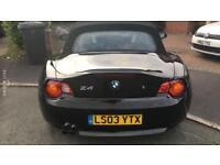 BEAUTIFUL BLACK 2003 BMW Z4 CONVERTIBLE! LOW MILEAGE