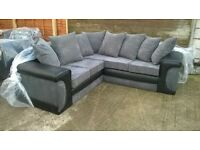 "Corner Sofa ""Brand New & Unused"" Leather & Material, can deliver promptly if needed."