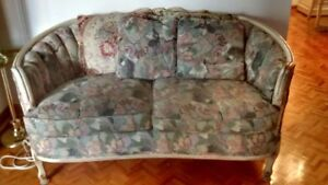 FLORAL FABRIC SOFA - LIKE NEW! & marching loveseat