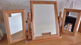 Pine 3 part mirror