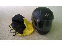 Scorpian motorbike helmet only worn couple times