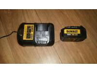 Dewalt xr battery an fast charger