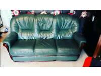 Three seaters leather sofa