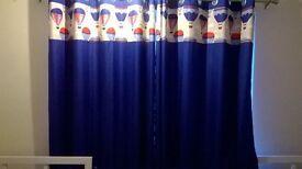 Bedroom blackout eyelet curtains 66x72