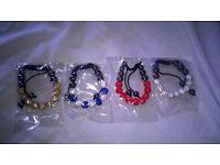 Brand new 9 balled shamballa bracelets set of 4