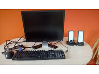 DELL 19inch monitor, speakers, keyboard & mouse