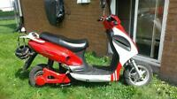 red and white e bike great condition ready to roll