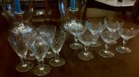 Crystal glasses $2 each