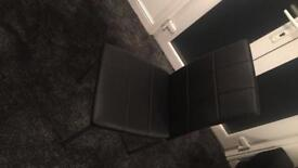 6 BRAND NEW LEATHER CHAIRS. CHEAP!