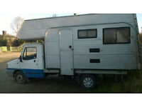 Ldv flat bed with camper body bolted on
