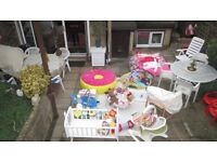 Everything for new baby, clothes, toys, nursery equipment etc. as new, very low prices to clear
