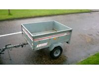 ERDE Trailer Galvanised steel with greedy boards and cover
