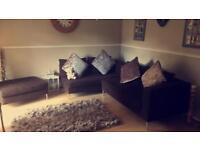 Brown corner sofa needs gone asap