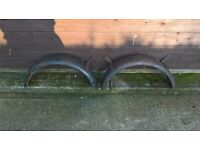 Vintage wheel arches for trailer or similar.