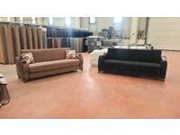🎉😍EXCLUSIVE DESIGN ! BRAND NEW MARBLE TURKISH SOFA / COUCH BED IN BLACK AND BROWN