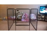 NEW PGO Dog enclosure Puppy Crate Black 36""