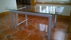 MODERN LOOK GLASS AND CHROME COFFEE TABLE
