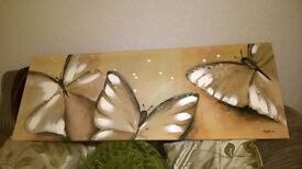 BEAUTIFUL GOLD BUTTERFLY CANVAS 48 INCH X 18 INCH