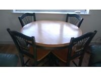 Free dining table with chairs