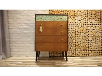 CHEST OF DRAWERS,SIDEBOARD VINTAGE ,RETRO, SHABBY CHIC (FREE DELIVERY)