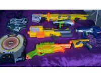 Assorted Nerf guns & Target
