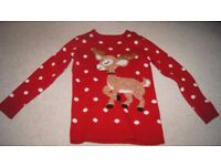 Girl's Christmas jumper 8-9 years