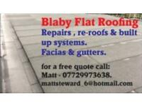 Blaby flat roofing repairs to re-roofs.
