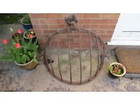 "VINTAGE ORIGINAL HAYRACK 19"" WIDTH, 36"" LENGTH AND 21"" HEIGHT WITH ORIGINAL FITTINGS"