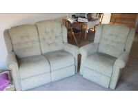 Sofa - Two Seater and Matching Chair: Very high quality, cost £2000 - No pets, no smokers.