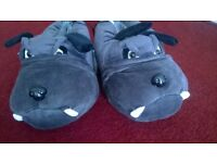 Novelty Dog Slippers adult size 9-10 Brand new with tags £5