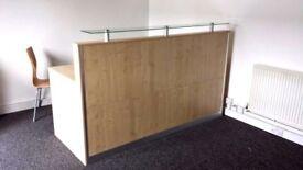 Reception Desk in Oak /Ref: 0504