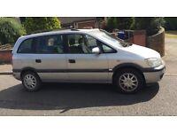 Vauxhall zafira comfort for sell, MOT, drives well, cheap.