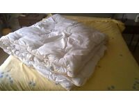 Double bed size duvet with cover