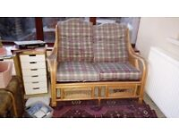Conservatory furniture - wicker double setee £10
