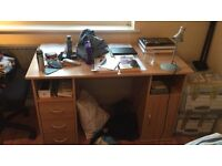 Free used desk, collection only, until Saturday (Balham area)! W 120 x D 59.6 x H 74.1 (cm). Stain