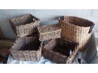 Set 6 Wicker Baskets £15